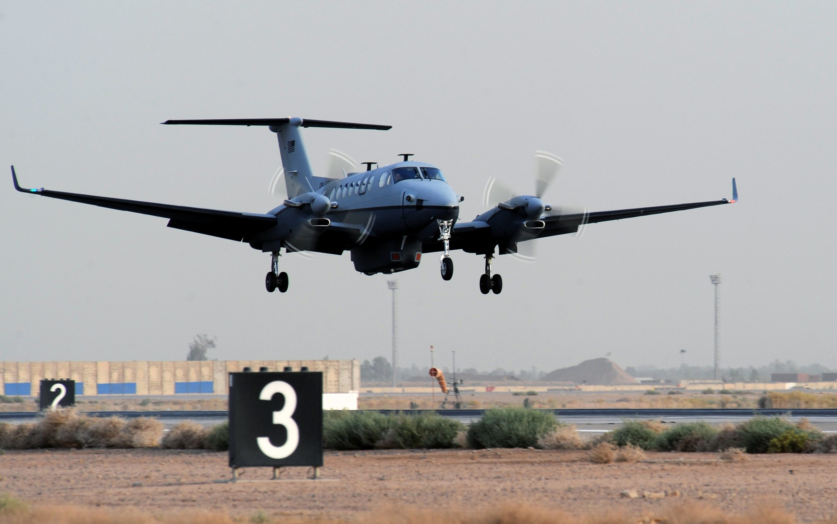 The MC-12 Liberty aircraft is the Air Force's newest intelligence, surveillance and reconnaissance platform. It is a medium-altitude manned special-mission turbo prop aircraft that supports coalition and joint ground forces. (U.S. Air Force photo/Senior Airman Tiffany Trojca)