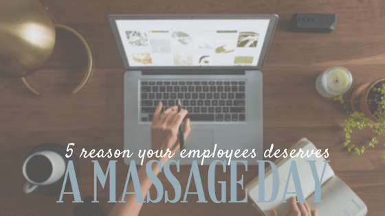 benefits of chair massage in the workplace