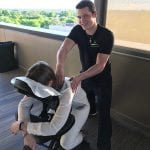 Happy about chair massages